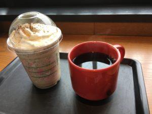 スターバックス出雲大社店のコーヒーなど