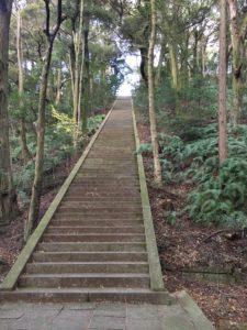 豊国廟 長い階段