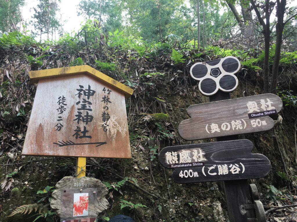 伏見神宝神社の案内看板
