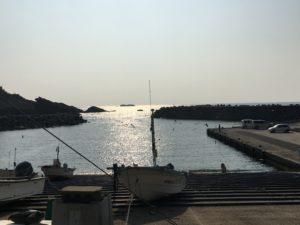 日御碕神社近くの海