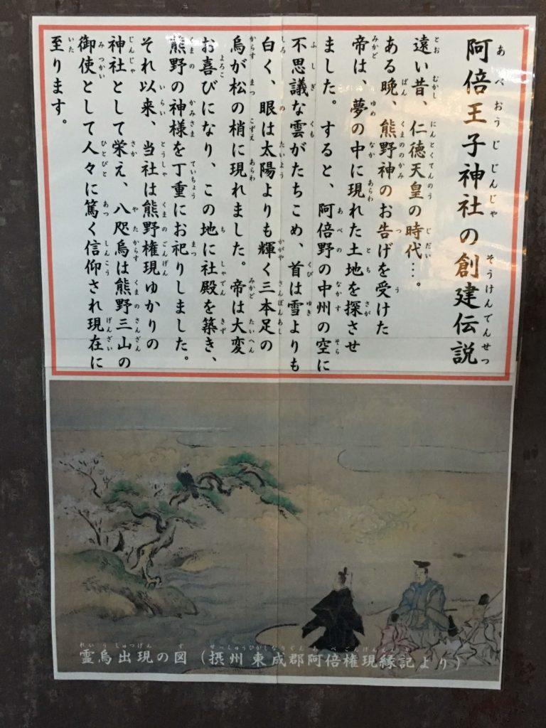 阿倍王子神社の創建伝説