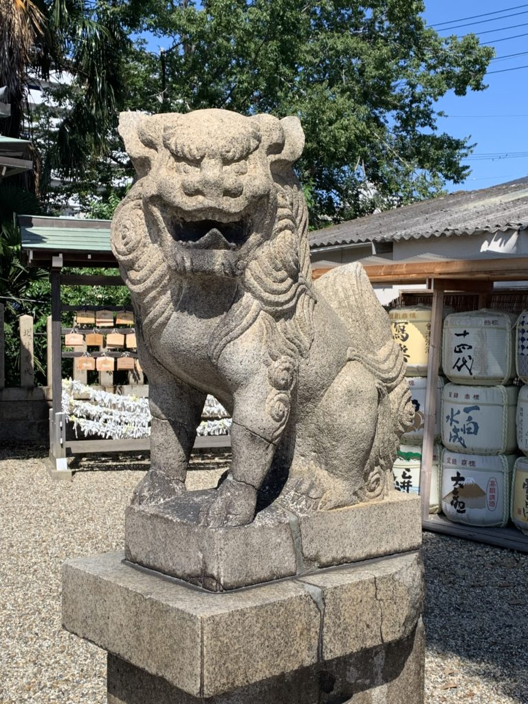 姫嶋神社の狛犬さん