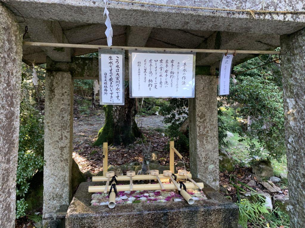 日吉大社の西本宮・手水舎