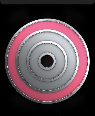 Apple Watchのアクティビティ ムーブ新記録のバッジ