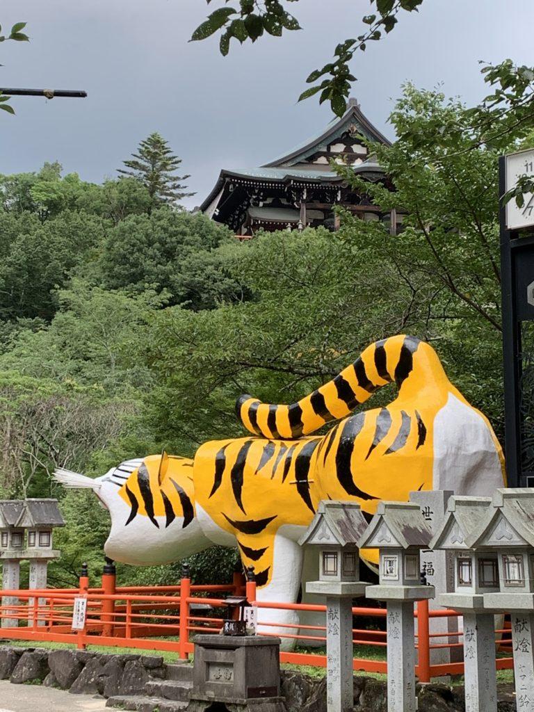 信貴山朝護孫子寺のはりこの虎